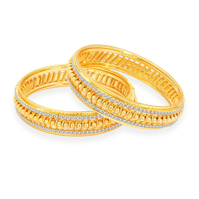 Sukkhi Fancy Gold Plated AD Bangle For Women-1