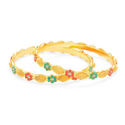Sukkhi Splendid Gold Plated AD Bangle For Women-1