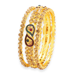 Sukkhi Modern LCT Stone Gold Plated AD Bangle For Women