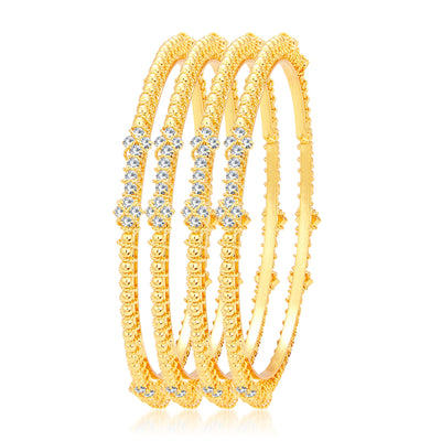 Sukkhi Lavish Gold Plated AD Bangle For Women