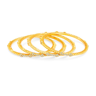 Sukkhi Lavish Gold Plated AD Bangle For Women-1