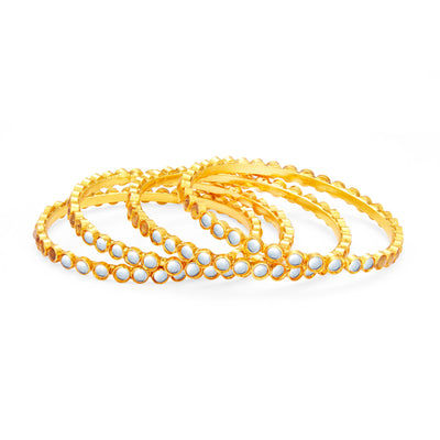 Sukkhi Delightly Gold Plated Kundan Bangle For Women-1