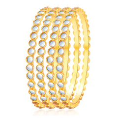 Sukkhi Delightly Gold Plated Kundan Bangle For Women