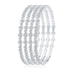 Sukkhi Classic Rhodium Plated AD Bangle For Women