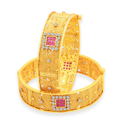 Sukkhi Alluring Jalebi Gold Plated Bangle For Women
