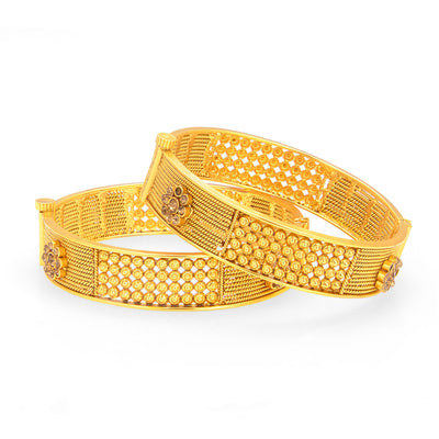 Sukkhi Beguiling Gold Plated Bangle For Women-1