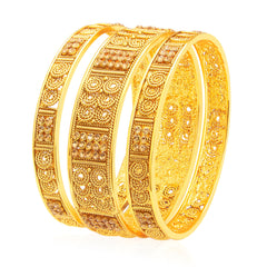 Sukkhi Exquisite Jalebi Gold Plated AD Bangle For Women