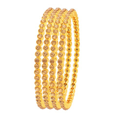 Sukkhi Gleaming LCT Stone Gold Plated AD Bangle For Women