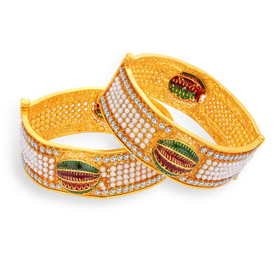 Sukkhi Glimmery Gold Plated Bangle For Women-1