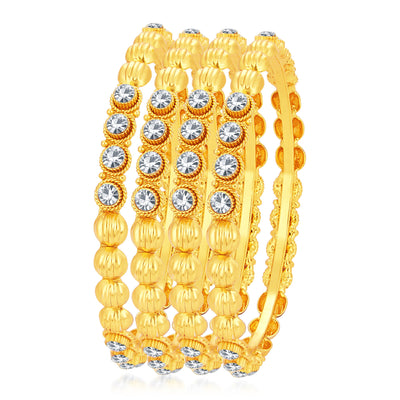Sukkhi Classic Gold Plated AD Bangle For Women
