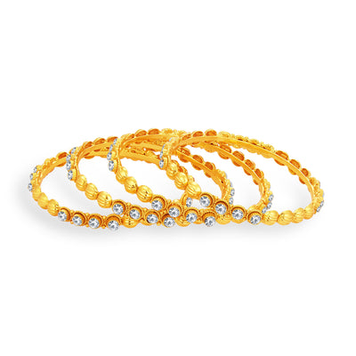 Sukkhi Classic Gold Plated AD Bangle For Women-1