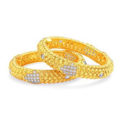 Sukkhi Pleasing Invisible Setting Gold Plated American Diamond Bangle For Women-1