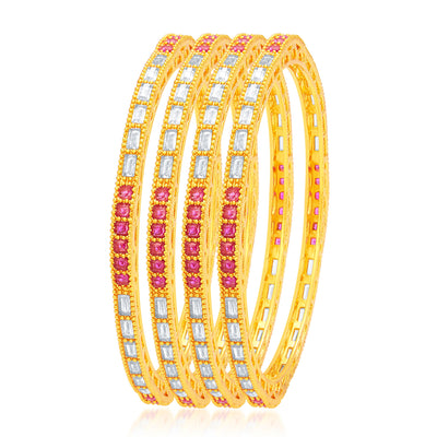 Sukkhi Exquitely Gold Plated American Diamond Bangle For Women