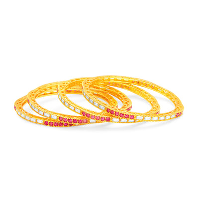 Sukkhi Exquitely Gold Plated American Diamond Bangle For Women-1