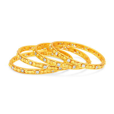Sukkhi Intricately Crafted Gold Plated American Diamond Bangle For Women-1