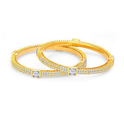 Sukkhi Marvellous Gold Plated American Diamond Bangle For Women-1