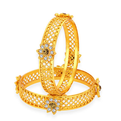 Sukkhi Delightful Gold Plated AD Bangle For Women