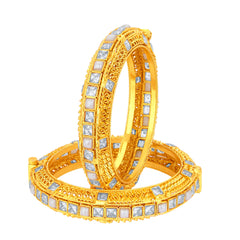 Sukkhi Sublime Gold Plated American Diamond Bangle For Women