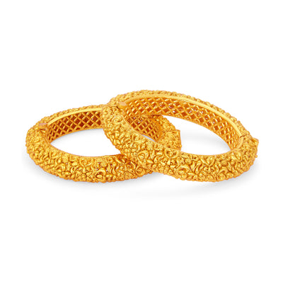Sukkhi Dazzling Gold Plated Bangle For Women-1