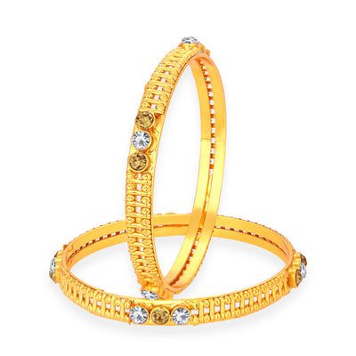 Sukkhi Ethnic Gold Plated AD Bangle For Women
