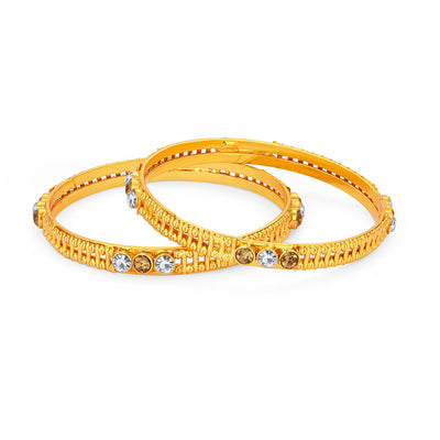 Sukkhi Ethnic Gold Plated AD Bangle For Women-1