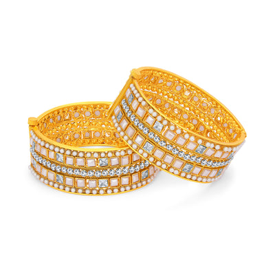 Sukkhi Finely Gold Plated AD Bangle For Women-1