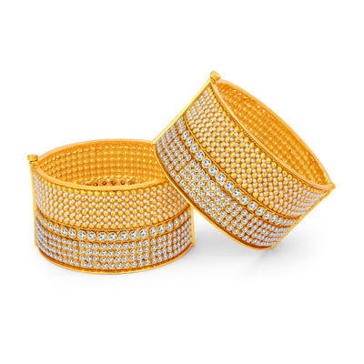 Sukkhi Shimmering Gold Plated Bangle For Women-1