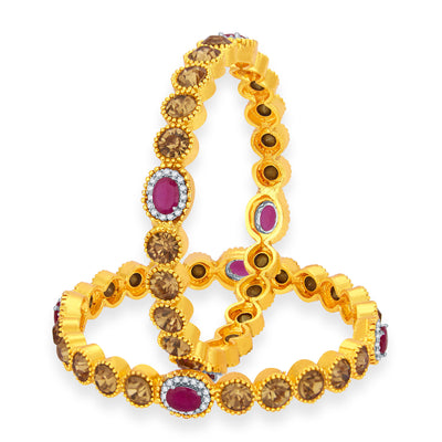 Sukkhi Graceful LCT Stone Gold Plated AD Bangle For Women