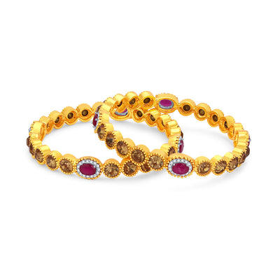 Sukkhi Graceful LCT Stone Gold Plated AD Bangle For Women-1