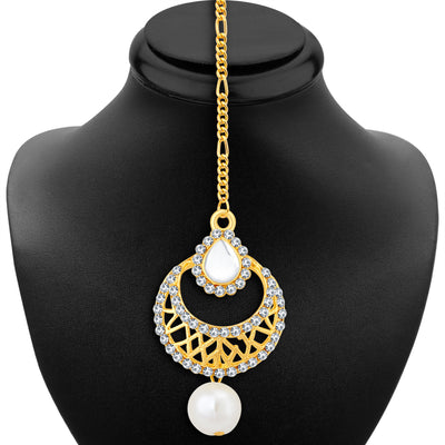 Sukkhi Graceful 3 String Gold Plated Necklace Set For Women-2