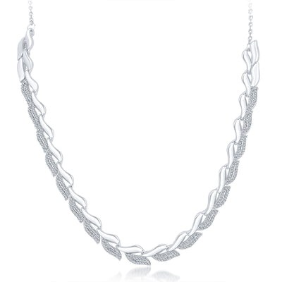 Sukkhi Glimmery Rhodium Plated AD Necklace Set For Women-3