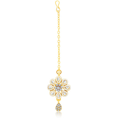 Sukkhi Youthful Gold Plated AD Necklace Set For Women-3