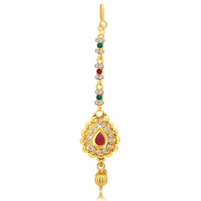 Sukkhi Gorgeous Gold Plated AD Necklace Set For Women-3