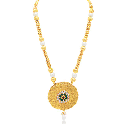 Sukkhi Dazzling Jalebi Gold Plated Necklace Set For Women-1