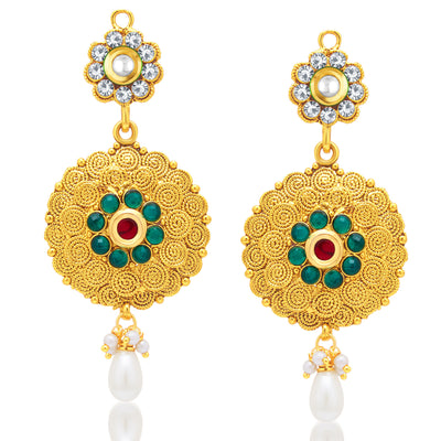 Sukkhi Dazzling Jalebi Gold Plated Necklace Set For Women-2