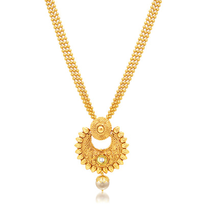 Sukkhi Pleasing Gold Plated Necklace Set For Women-1