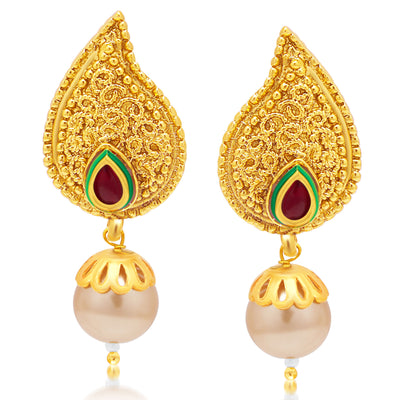 Sukkhi Sublime 5 String Gold Plated Kundan Necklace Set For Women-2