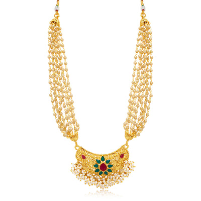 Sukkhi Dazzling Gold Plated Necklace Set For Women-1