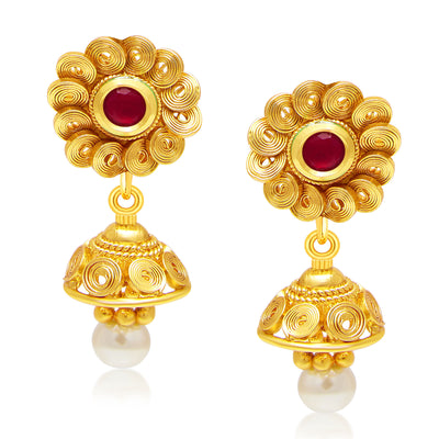 Sukkhi Modish Jalebi Gold Plated Kundan Necklace Set For Women-2