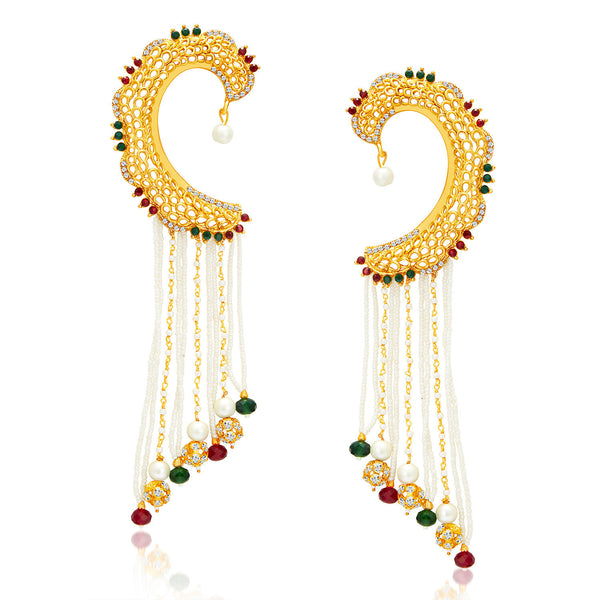 Sukkhi Eye-Catchy Gold Plated Pearl Earcuff For Women