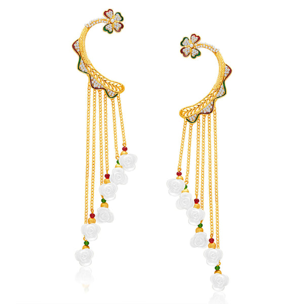 Sukkhi Enchanting Gold Plated Pearl Earcuff For Women