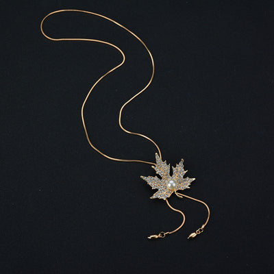 Sukkhi Ritzy Leafy Rose Gold Necklace for women