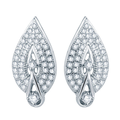 Pissara Attractive Rhodium plated Micro Pave Setting CZ Pendant Set-2