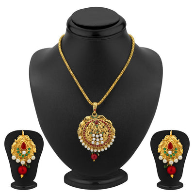Sukkhi Blossomy Gold Plated Pendant Set