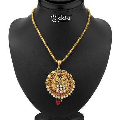 Sukkhi Blossomy Gold Plated Pendant Set-1