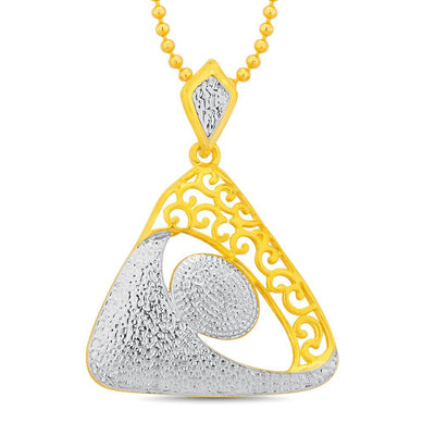 Sukkhi Enchanting Gold and Rhodium Plated Pendant Set With Chain-1