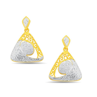 Sukkhi Enchanting Gold and Rhodium Plated Pendant Set With Chain-2