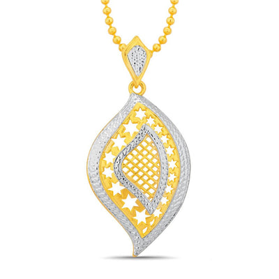 Sukkhi Ravishing Gold and Rhodium Plated Pendant Set With Chain-1
