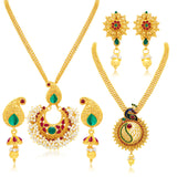 Sukkhi Bewitching Gold Plated Set of 2 Necklace Set Combo For Women