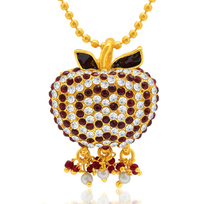 Sukkhi Marvelous Gold Plated AD Pendant Set for Women-1